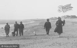 Chapel St Leonards, Walking Along The Beach c.1955