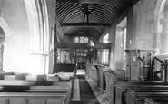 Charlwood, Church interior 1906