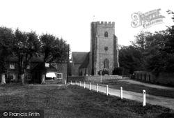 Chartham, The Church And Green 1903