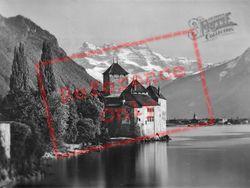 And The Dents Du Midi c.1935, Chateau De Chillon