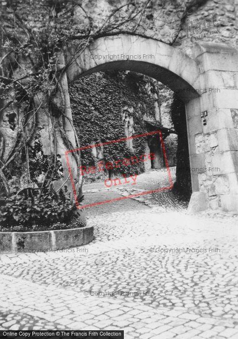 Photo of Chateau De Chillon, Archway c.1935