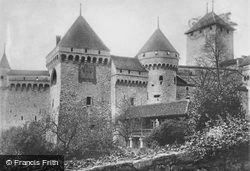 From The East c.1930, Chateau De Chillon