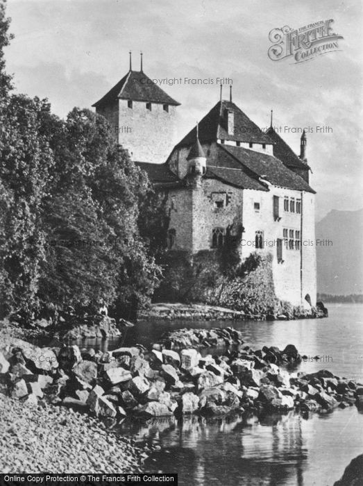 Photo of Chateau De Chillon, From The North c.1935