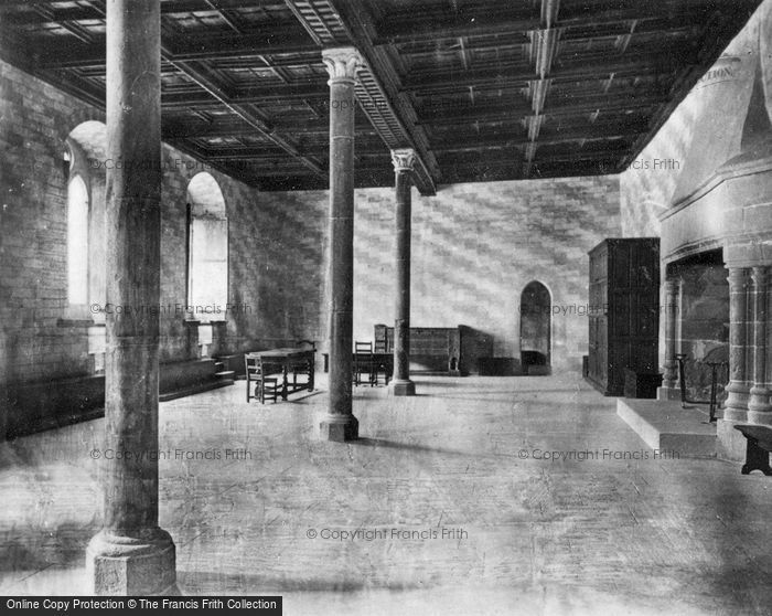 Photo of Chateau De Chillon, The Justice Hall c.1930