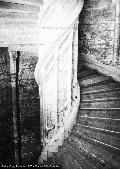 Photo of Chateaudun, Staircase, The Chateau 1964