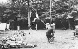 Chatham, Buckmore Park, An Aerial Rope Way c.1965