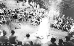 Chatham, Buckmore Park, Camp Fire c.1965