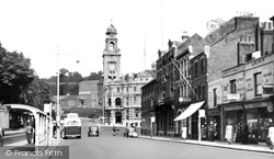 Chatham, Military Road And Town Hall c.1955
