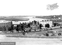 Chatham, New Road And River Medway c.1955