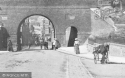 Chatham, New Road And The Viaduct c.1900