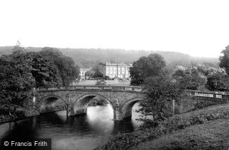 Chatsworth House, and the Bridge 1886