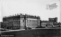 Facade c.1870, Chatsworth House