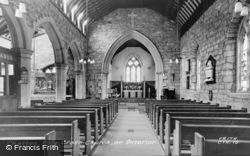 Holy Cross Church Interior c.1955, Chatton
