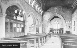 Chatton, Holy Cross Church Interior, East End c.1955