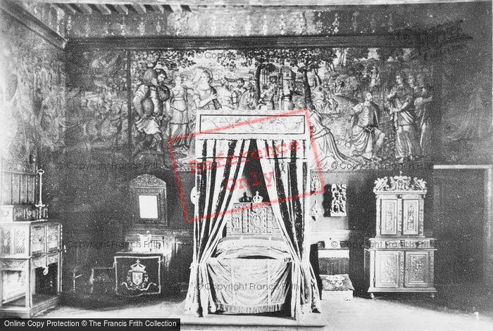 Photo of Chaumont Sur Loire, Chateau De Chaumont, Bedchamber c.1935