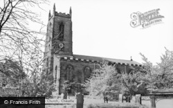 Cheadle, Church Of St Giles The Abbot c.1950