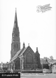 Cheadle, St Giles' Roman Catholic Church c.1955