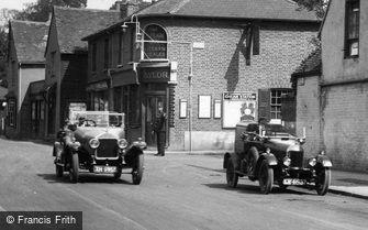 Cheam, Cars outside the Plough Inn 1927