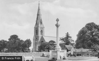 Cheam, St Dunstan's Church and War Memorial 1925