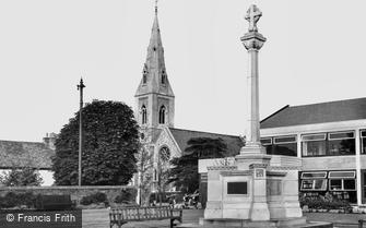 Cheam, the Library and War Memorial c1965