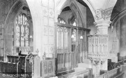 Cheddar, Church Interior 1908