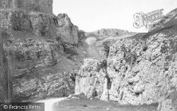 Cheddar, Cliffs 1890