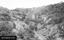 Cheddar, Cliffs c.1960