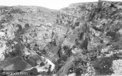 Cheddar, Cliffs From Ivy Seat 1908