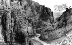 Cheddar, Gorge, Approaching Wind Rock 1935