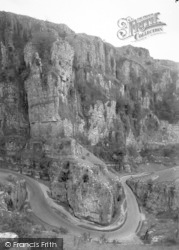 Cheddar, Gorge, The Horse Shoe Bend c.1938