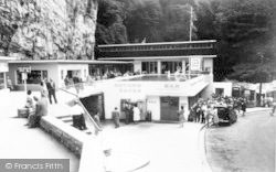 Cheddar, Gough's Caves And Caveman Restaurant c.1960