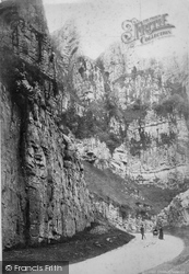 Cheddar, Pinnacle Rock From Above 1887