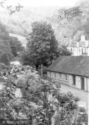 Cheddar, Tea Gardens And Cliff Hotel c.1950