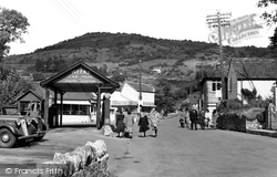 Cheddar, The Car Park And Filling Station c.1950