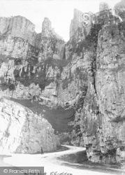Cheddar, The Cliffs, Wind Rock c.1890