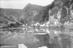 Cheddar, The Lake And Reflections 1925