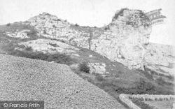 Cheddar, The Lion Rock c.1880