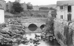 Cheddar, The Rock Garden And Bridge c.1939