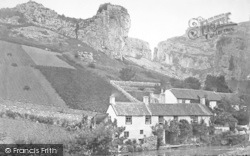 Cheddar, The Village And Lion Rock c.1873