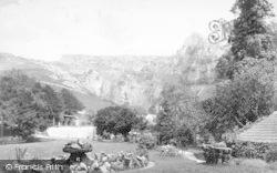 Cheddar, The Village From Cliff Hotel Garden 1887