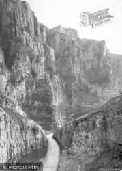 Cheddar, View In The Gorge c.1890