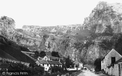 Cheddar, Village And Gorge c.1873