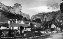 Cheddar, Village And Lion Rock 1890