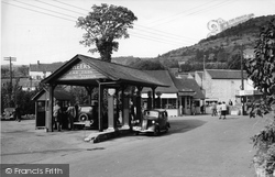 Cheddar, Weeks Filling Station c.1950