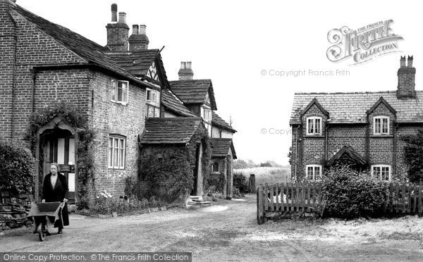 Photo of Chelford, Old Cottages c.1955