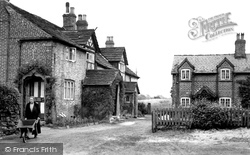 Chelford, Old Cottages c.1955