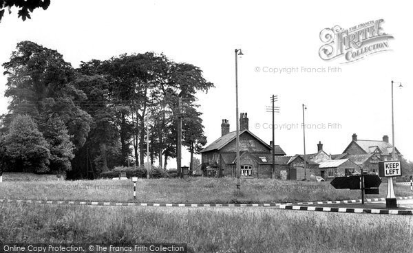 Photo of Chelford, The Roundabout c.1955
