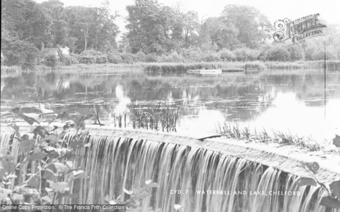 Photo of Chelford, Waterfall And Lake c.1955