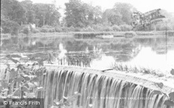 Chelford, Waterfall And Lake c.1955