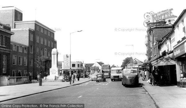 Photo of Chelmsford, Civic Suite and War Memorial c1965